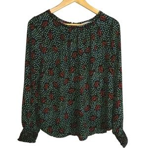 LOFT Flower Print Multicolored T-shirt, size S